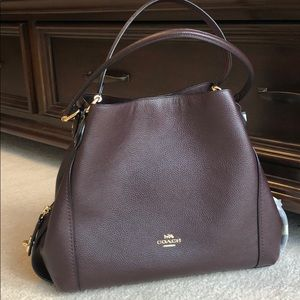 Coach Edie Large Pebbled leather shoulder bag